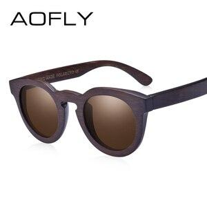 Image 2 - AOFLY BRAND DESIGN Women Sunglasses Polarized Cat Eye Sun Glasses Wooden Frame Vintage Handmade Bamboo Gafas UV400 AF603