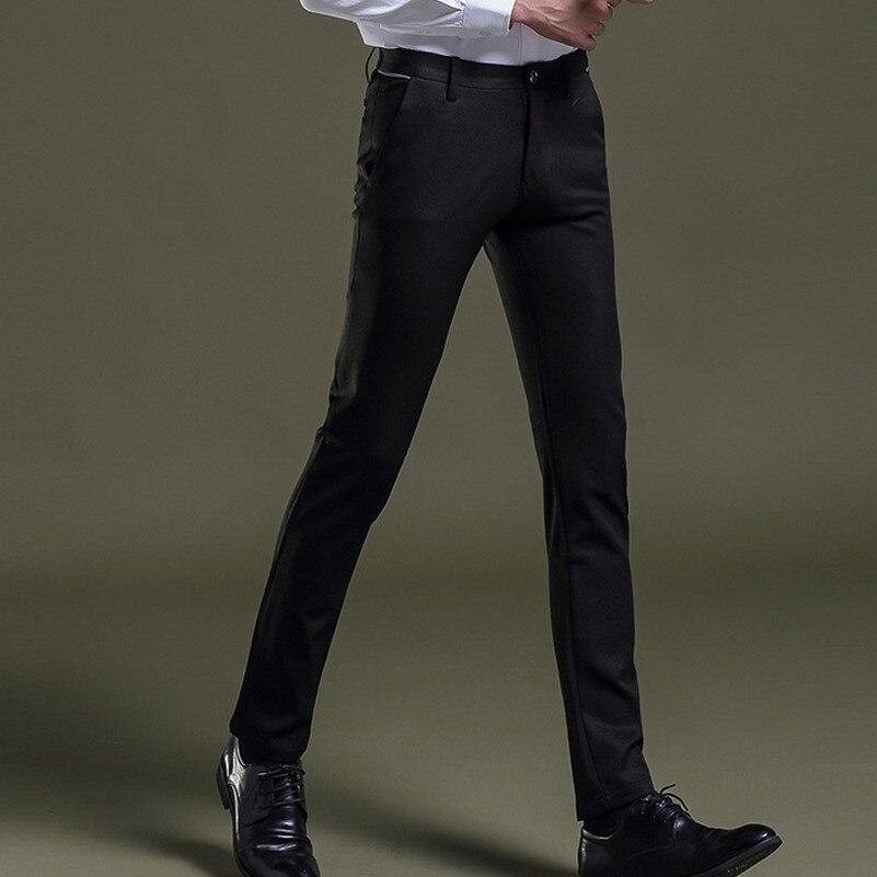 Pantalon Plus Fit Noir Robe D'affaires Stretch Slim Mode Costume Mens Nouvelle Taille 1dwdqY
