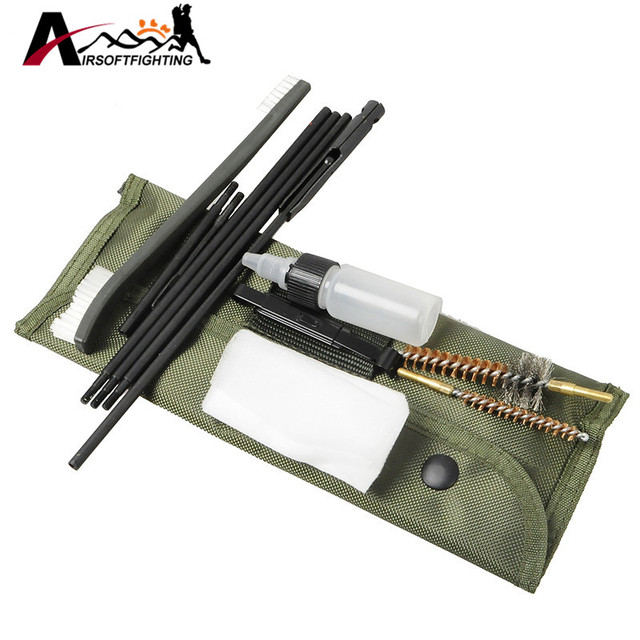 New Arrival 10 Piece .22cal 5.56mm Rifle Gun Cleaning Kit Set Cleaning Rod Nylon Brush Cleaner Gun Accessories Clean Tools