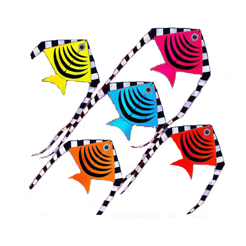 New High Quality Outdoor Fun Sports Fish Kites/Kid Kites /With Handle And String Good Flying