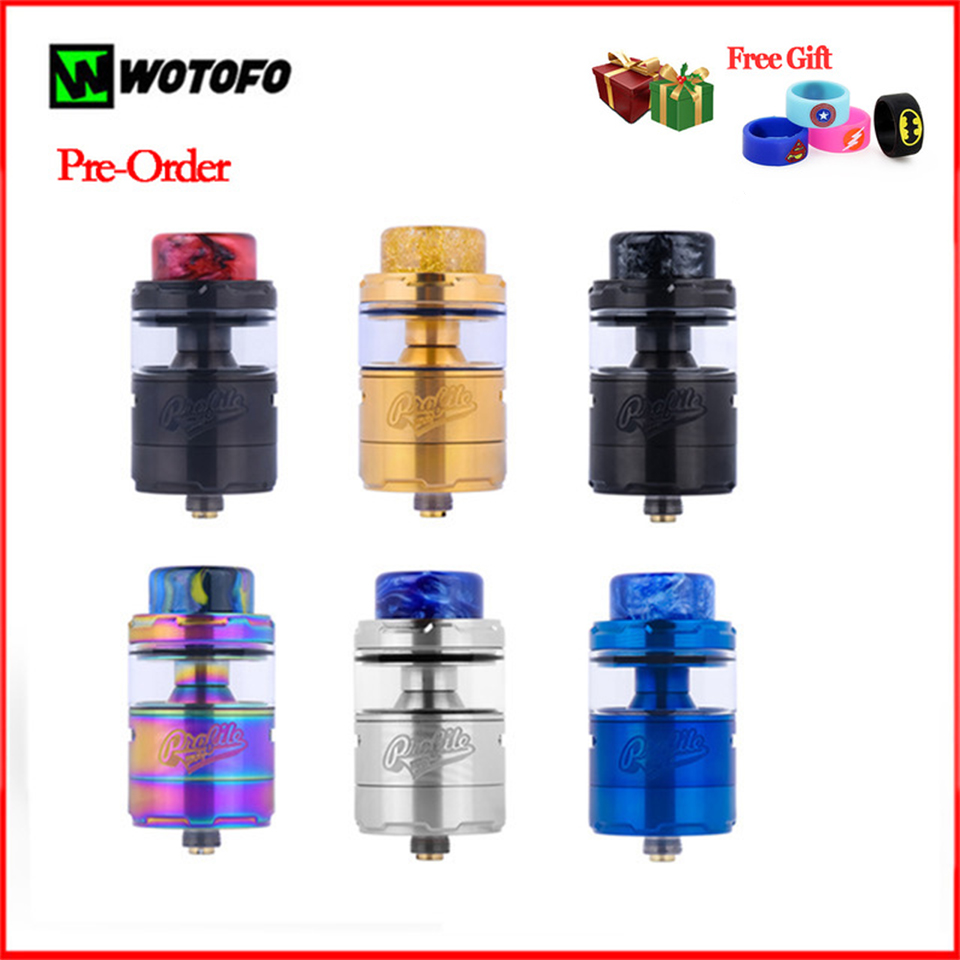 Original Wotofo Profile Unity RTA Atomizer Vape Tank 25mm 3 5ml 5ml Capacity Top filling Airflow