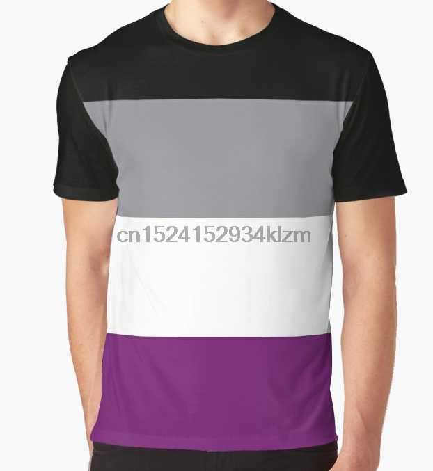 a703c130 All Over Print T-Shirt Men Funy tshirt Asexual pride flag Short Sleeve O-