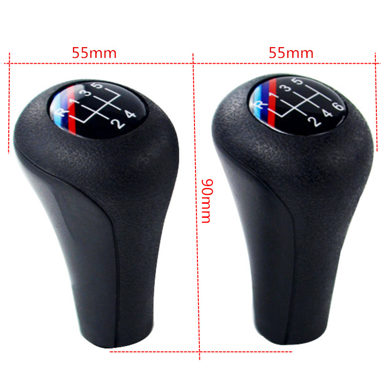 M Logo Gear Shift Knob for BMW 1 3 5 6 Series E46 E53 E60 E61 E63 E65 E81 E82 E83 E84 E87 E90 E91 E92 X1 X3 X5 Shifter Lever