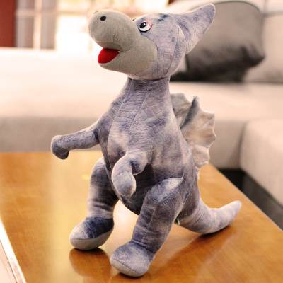 creative plush gray Giant spines dinosaurs toy cartoon dinosaur doll gift about 50cm
