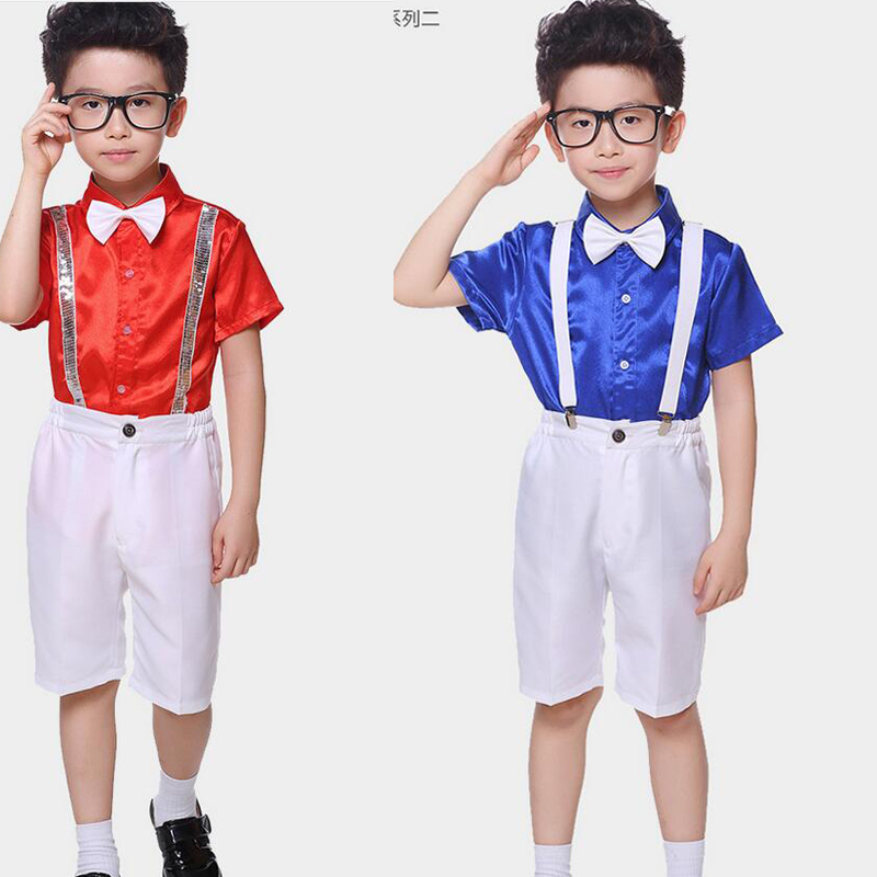 615d608f2 Boys Short Sleeve Ballroom Jazz Modern clothes Hip Hop Dance ...