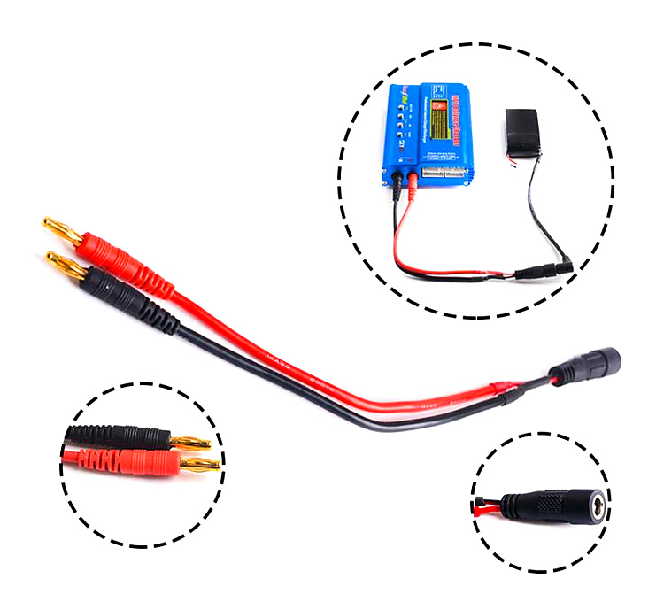 US $5.99 |4.0mm banana head to FatShark FPV video gles battery cable on