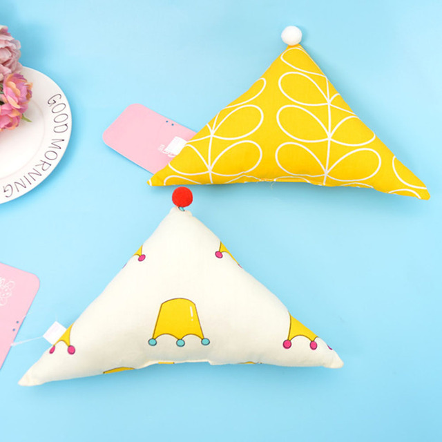 Coloful 7 Types Cartoon Infant Pillows Geometry Shape Soft Head Protect  Bedding Pillow Pad Kids Head