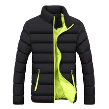 Autumn Winter Jacket Mens Brand Clothing Casual Coat New Solid Color Simple Male Outwear Parkas Stand Collar High Quality цены онлайн