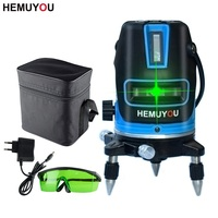 HEMUYOU 5 Line 6 Point 360 Degree Omnidirectional Laser Level Can Be Automatically Leveled To Support Outdoor Mode