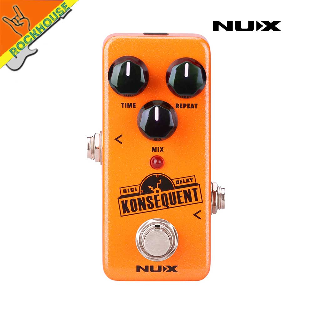 New NUX Konsequent Digital Delay Guitar Effects Pedal Digital Delay Pedal with Upgraded hardware True Bypass Free Shipping mooer ensemble queen bass chorus effect pedal mini guitar effects true bypass with free connector and footswitch topper