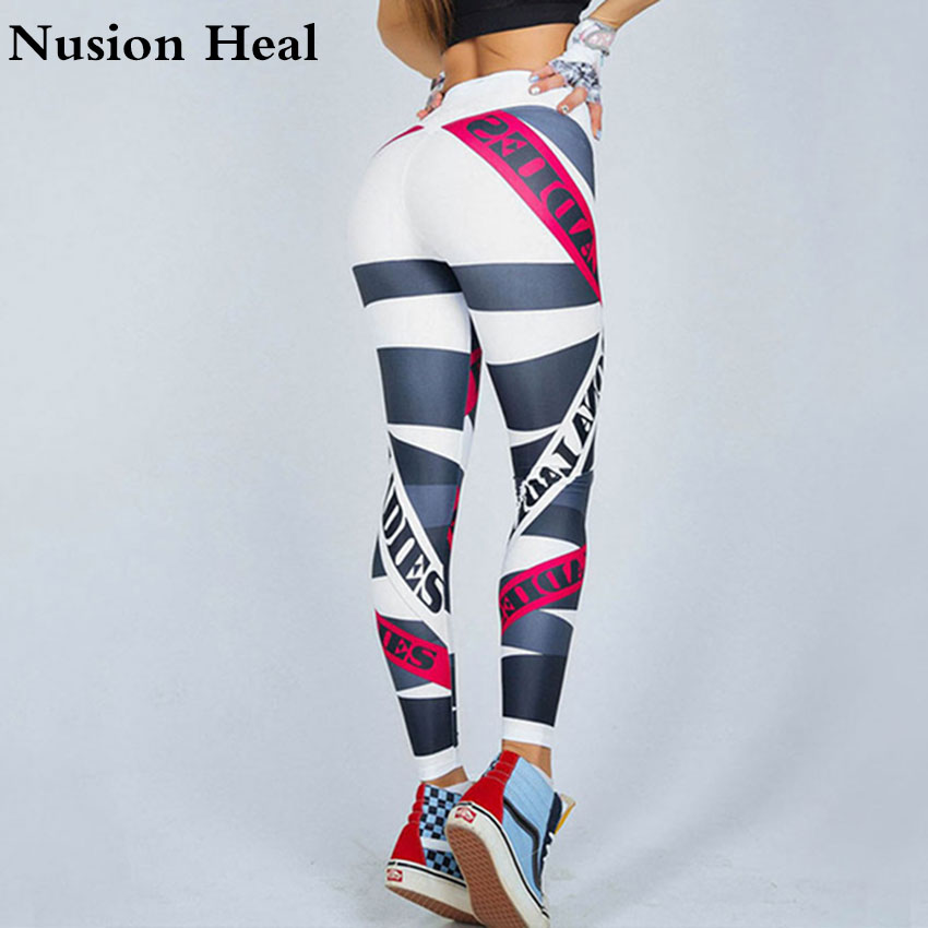 2018 Women Sport Leggings Yoga Pants Black High Waist Elastic Running Fitness Slim Sport ...