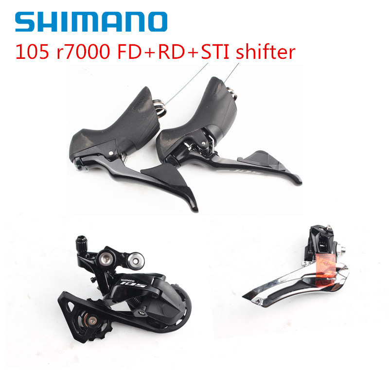SHIMANO 105 R7000 2x11 Spd Groupset Kit Shifter Derailleur Front Rear SS GS