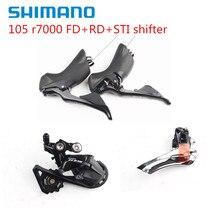 Shimano kit de alavanca de câmbio, kit de velocidade 105 r7000 2x11, desviador frontal + traseira ss/gs