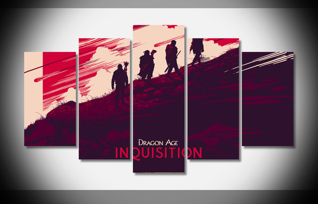 Dragon Age Inquisition Poster Framed Gallery Wrap Art Print Home Wall Decor Picture Already To