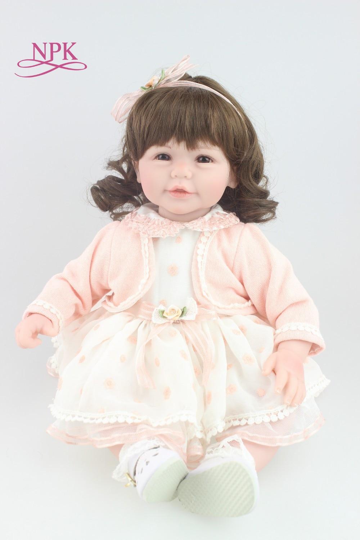 NPK 50cm bebes reborn doll hot sale toys soft slicone reborn baby dolls wholesale Gift Bonecas