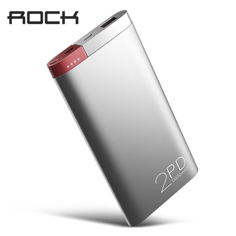 ROCK Puissance Banque 20000 mah PD QC3.0 2.0 Charge Rapide Powerbank Externe Portable Batterie Chargeur pour iphone X Samsung Xiaomi