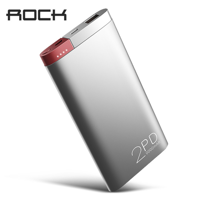 ROCK QC3.0 PD 2.0 Carga Rápida Powerbank Banco Do Poder 20000 mah Carregador Portátil de Bateria Externa para o iphone X Samsung Xiaomi