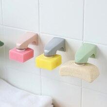 5 цветов, аксессуары для ванной комнаты, настенный стеллаж для хранения, деревянная мыльница с наклейкой, полки для мыла, магнитные держатели для мыла