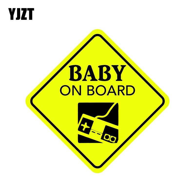 YJZT 13.8CM*13.8CM BABY ON BOARD Decal PVC Car Sticker 12-40393