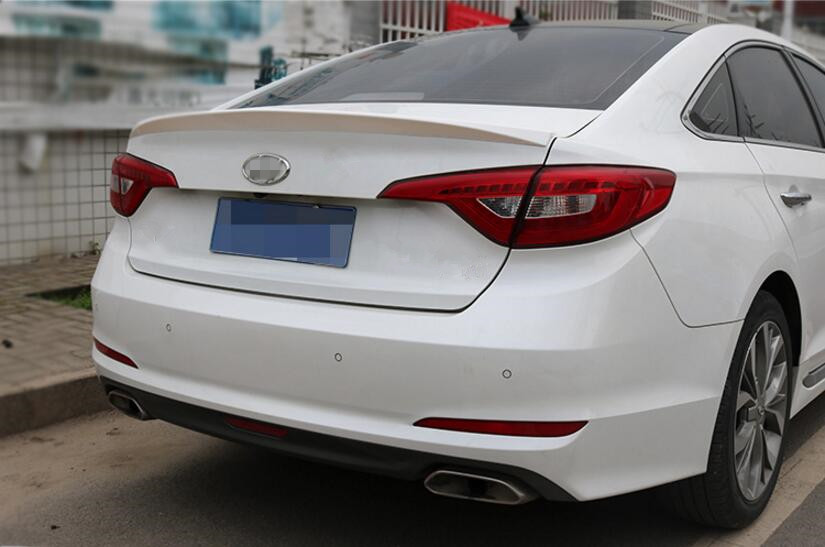 Pearl White Rear Wing Trunk Aero Spoiler For Hyundai Sonata Lf 2017 2016 Car Styling In Spoilers Wings From Automobiles Motorcycles On