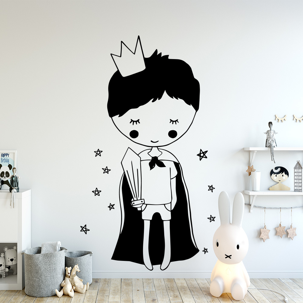 Little Prince Boys Room Decor Vinyl Wall Sticker Cartoon For Baby Room Decoration Wall Art Decor Mural Wallpaper Wallstickers