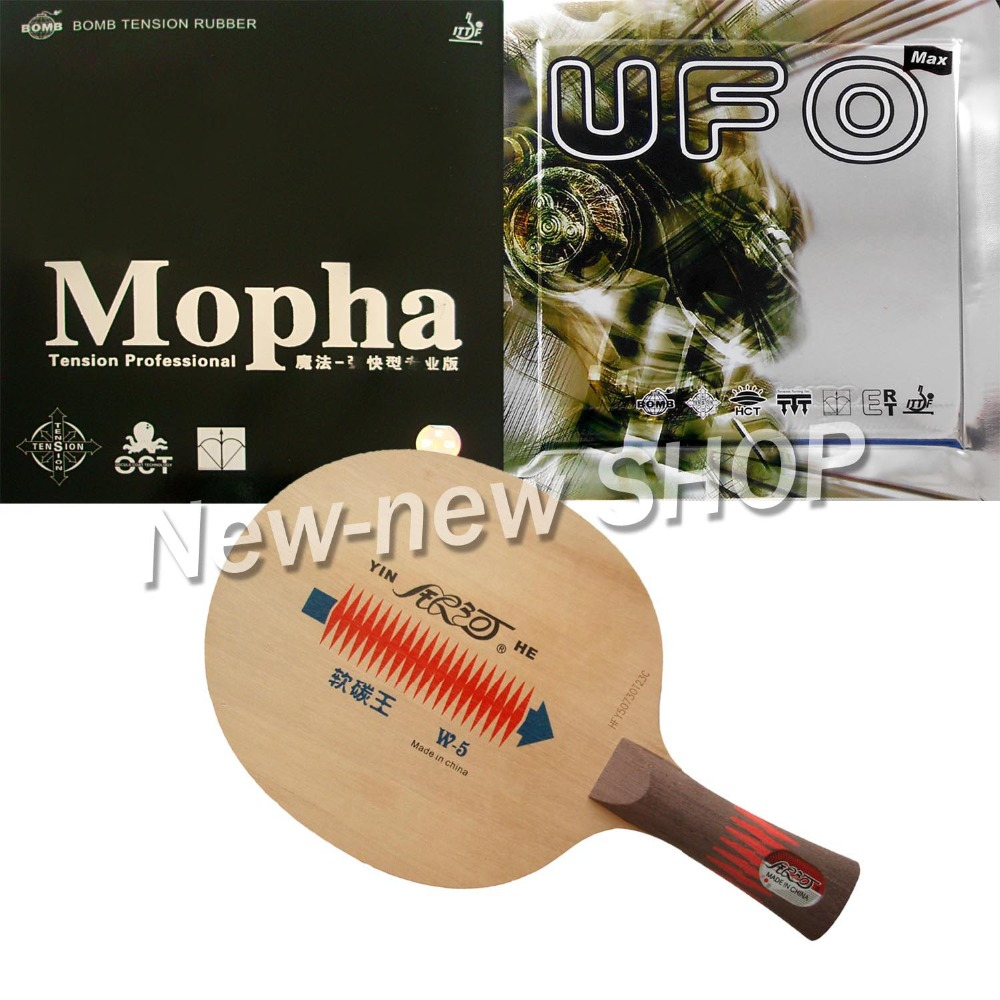 Pro Table Tennis Ping Pong Combo Paddle Racket Yinhe W-5 + Bomb UFO and Mopha PRO yinhe table tennis balde ping pong racket dragon god national team 1986 dragon 8s limited racket alc