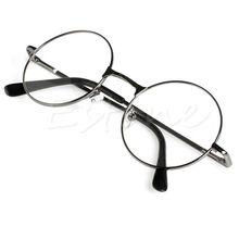 Унисекс ретро круглые дальнозоркие очки для чтения металлическая оправа индивидуальные очки