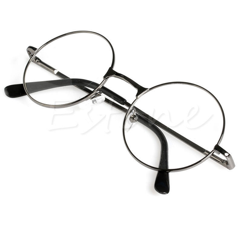 Unisex Retro Round Presbyopic Reading Glasses Metal Frame Personality Eyeglass