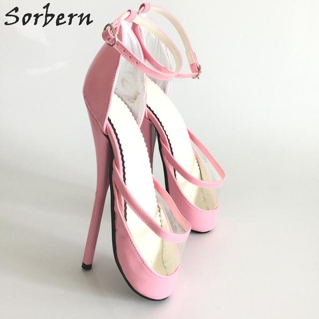 Sorbern Pumps Shoes Woman Gothic Ballet Heels  Plus Size Gothic Shoes Bdsm Party Shoes Pumps High Thin Heels Hot Sale Shoes