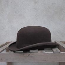 100% ขนสัตว์ Bowler หมวกผู้หญิงผู้ชาย 100% Crushable แบบดั้งเดิม Billycock เจ้าบ่าวหมวก 4 ขนาด S M L XL
