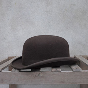 Image 1 - 100% Wool Bowler Hat Women men 100% Crushable Traditional Billycock Groom Hats 4 Size S M L XL
