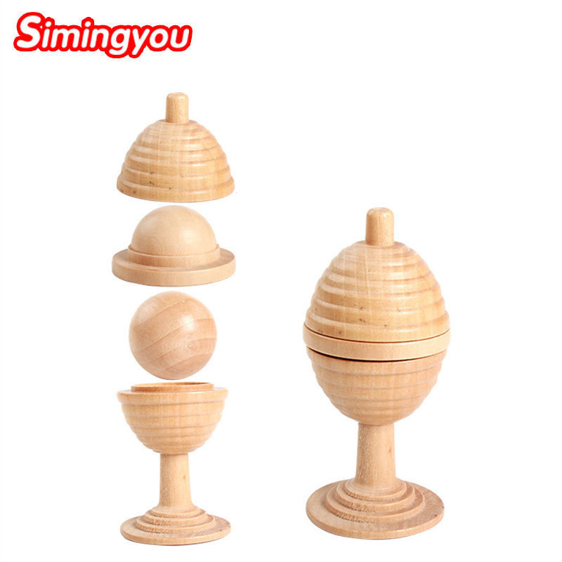 Simingyou Wooden Toys Brinquedos Puzzle Magic Puzzles For Adults Cup Kids Game C20-E35 Drop Shipping