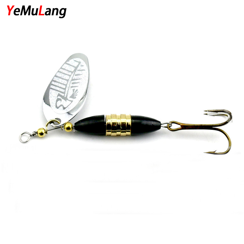 YeMuLang 1 piece Hard Fishing Lures 8.5cm Spinner Baits Isca Artificial Pesca Carp Fishing Wobbler Peche Metal Spoon With Hook 1pcs 12cm 14g big wobbler fishing lures sea trolling minnow artificial bait carp peche crankbait pesca jerkbait ye 37