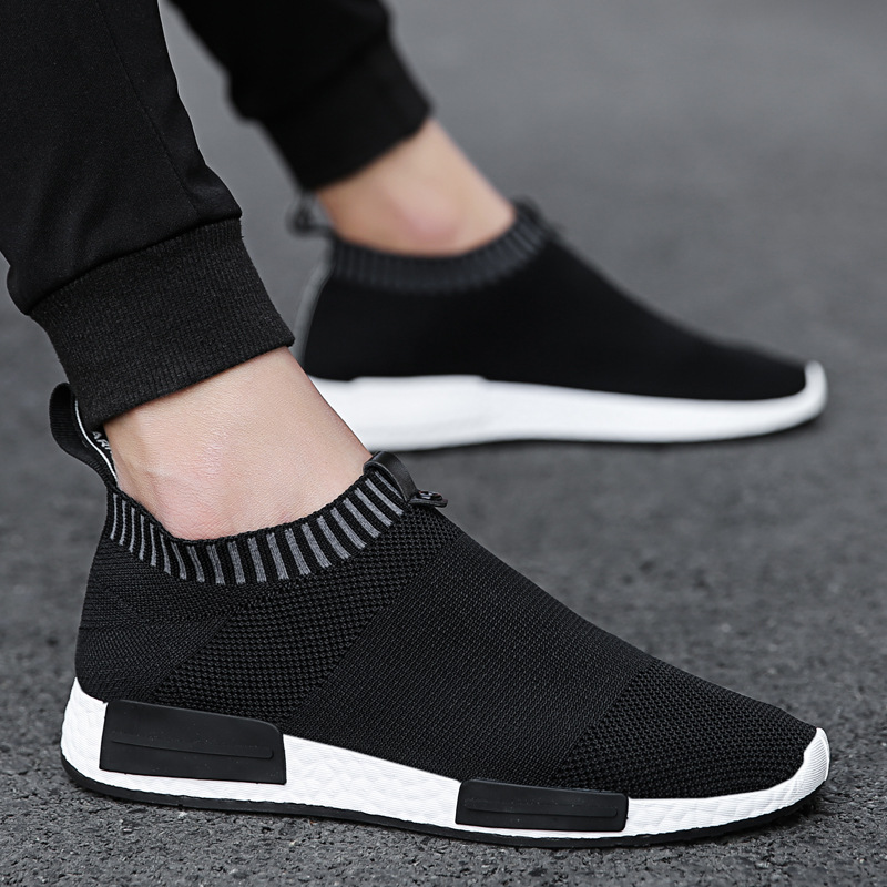 Men Shoes Sneakers Men Breathable Air Mesh Sneakers Slip on Summer Non-leather Casual Lightweight Sock Shoes Men Sneakers