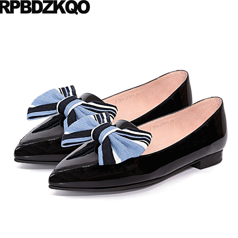 Bow China Luxury Latest Pointed Toe Women Designer Shoes Fitness Green Patent Leather Chinese Ladies Foldable Flats Slip On Drop sorben pointed toe patent leather slip on women flats casual style ladies shoes flat heels black red designer shoes size 35 43