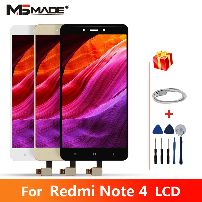 <font><b>Original</b></font> Für <font><b>Xiaomi</b></font> <font><b>Redmi</b></font> <font><b>Note</b></font> <font><b>4</b></font> LCD Touch Screen Digitizer <font><b>Display</b></font> Ersatz Teile Mit Rahmen Für <font><b>Redmi</b></font> Note4 <font><b>Display</b></font> image