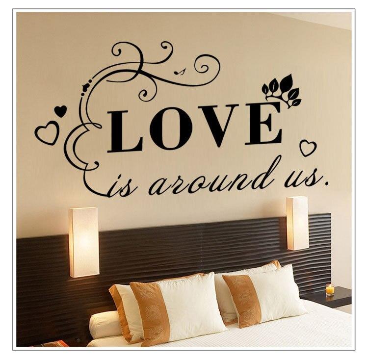 Englisch Wand Post Liebe Ist Um Uns Wohnzimmer Schlafzimmer Schmuck WandaufkleberChina