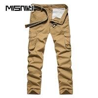 MISNIKI Spring Autumn Cargo Men Pants Casual Slim Cotton Trousers Men Pantalon Hombre