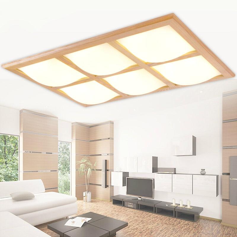 Moderne Mode Oberflche Montiert EICHE Acryl Fhrte Deckenleuchten Leuchte Home Deco Wohnzimmer Holz Led Deckenleuchte