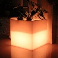 Skybess подсветкой квадратный легкий цветочный горшок светодиодный светящиеся кашпо горшки Прямая Продажа с фабрики открытый мебелью Бесплат