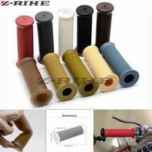 Motorcycle Hand Grips Handle Rubber Bar Gel Grip Retro Screw thread FOR 7/8 22mm CNC