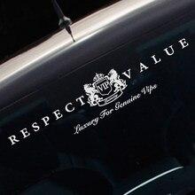 Noizzy уважение Значение Подлинная VIP роскошный автомобиль Стикеры лобовое стекло Авто Наклейка виниловая Светоотражающие автомобильный тюнинг автомобилей Стайлинг