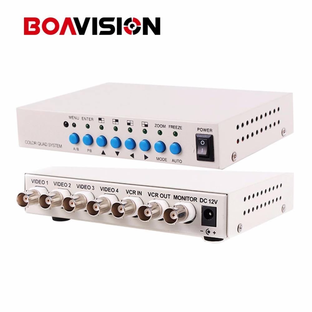 4 Channel CH Video Quad Camera Processor Switcher 4CH Color Video QUAD Processor wavelets processor