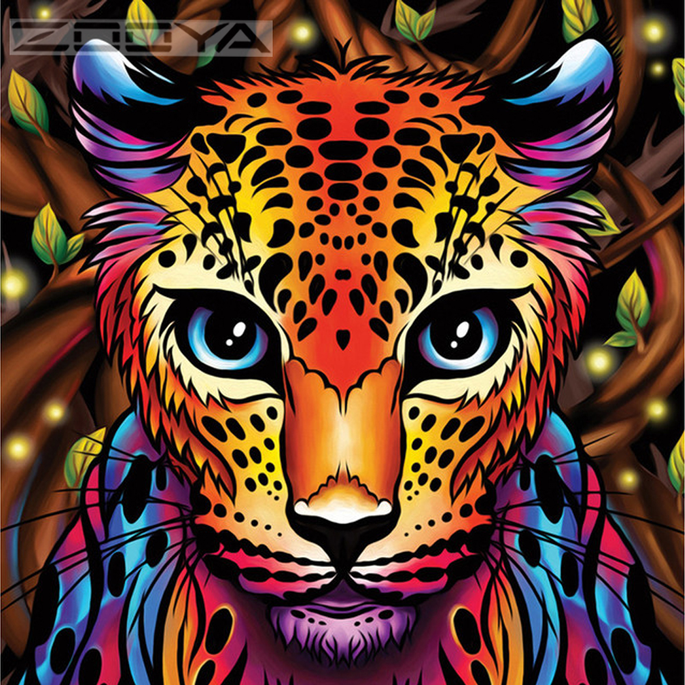 ZOOYA 5 <font><b>d</b></font> Diamond Painting New <font><b>2019</b></font> 5d Diamond Painting Full Drill Square/Round Diamond Embroidery Icons/Animals BJ2010 image