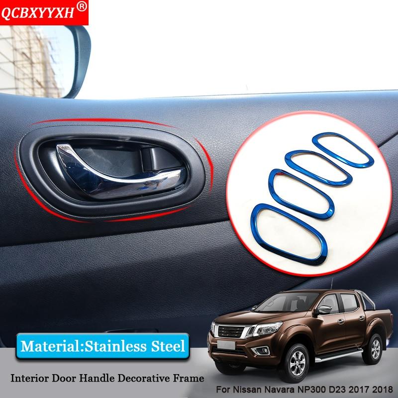 QCBXYYXH Car styling Car Inside Door Handle Frame Inside Door Sequins Covers Accessories For Nissan Navara