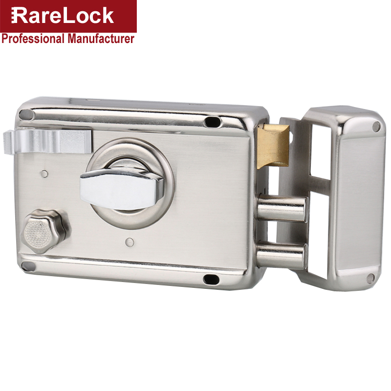 Rarelock Christmas Supplies Deadbolt Door Lock with Keys for Gate Office Women Bag Shop Door Hardware Home Security DIY a the ivory white european super suction wall mounted gate unique smoke door