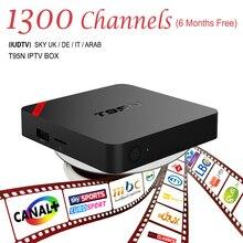 Européenne Boîte IPTV Android TV Box Ciel IPTV Récepteur et 1300 + Ciel Français Turc Pays-Bas Canaux Mieux Que MXV Android TV boîte