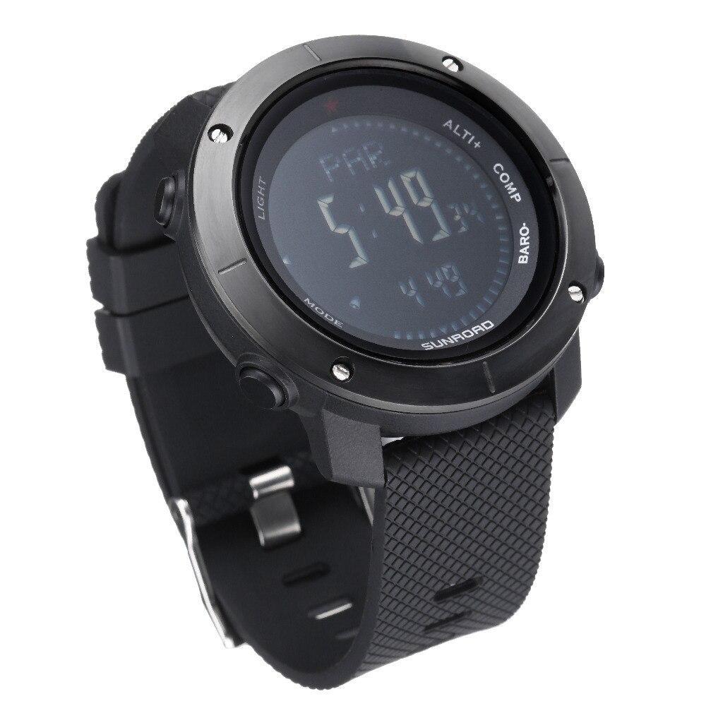 Men's Watches Sunroad Sport Watch Mens Waterproof Altimeter Compass Stopwatch Fishing Barometer Pedometer Led Digital Watch Saat Reloj Hombre Watches