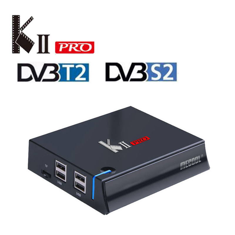 MECOOL KII Pro Android Tv Box DVB-T2&DVB-S2 Amlogic S905 Quad Core 2GB/16GB Ram Android 7.1 Tv Box BT4.0 4K Satellite Receiver original k1 plus s2 t2 android 5 1 tv box amlogic s905 quad core 64bit support dvb t2 dvb s2 1g 8g 1080p 4k tv box support ccamd