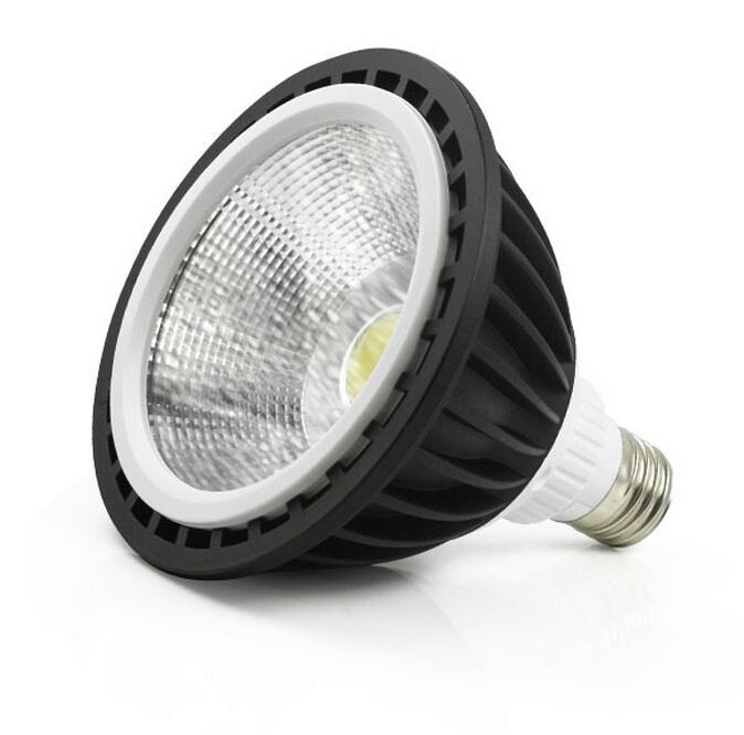 High quality E27 PAR38 Warm white cold white 20W Black shell LED Spot Light LED Bulb Light AC85-265V 16pcs/lot Free Shipping